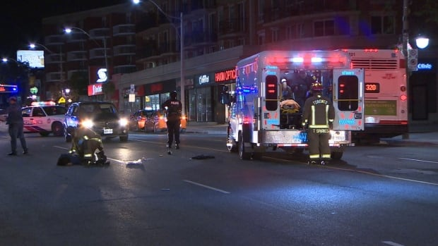 Woman struck and killed while crossing Yonge at Lawrence, man injured