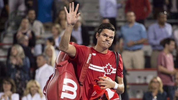 Milos Raonic, seen at a previous event,  retired from his second round match at the Japan Open on Thursday after saying earlier this week that the tennis tour was too demanding and called for a review.