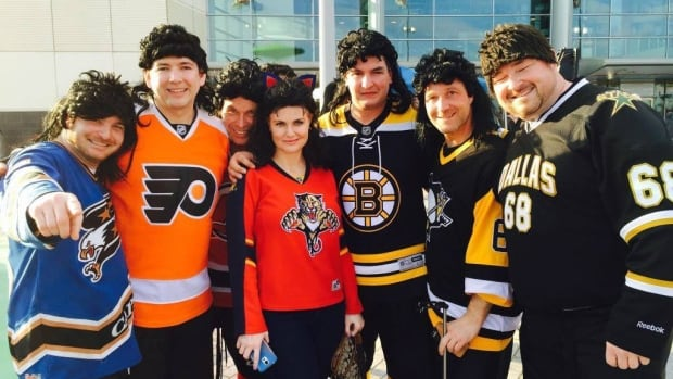 The Travelling Jagrs, clad in jerseys and mullet wigs, faithfully cheer for the Czech superstar.