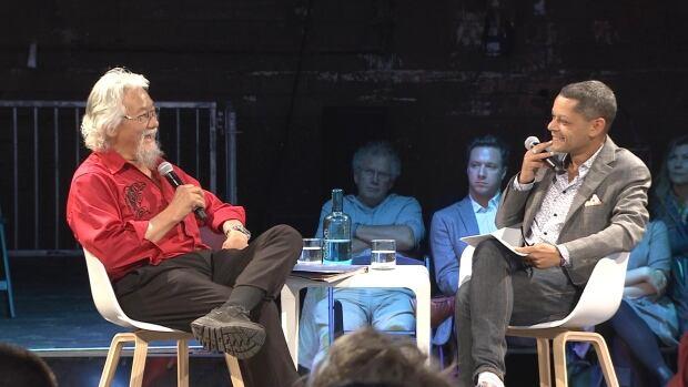 Matt Galloway and David Suzuki at EDIT