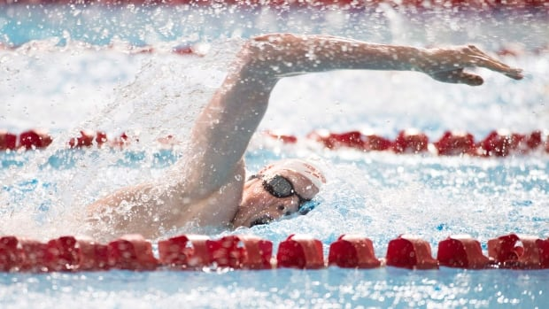 Nicolas Turbide, seen at a previous event, took down two records, while four other swimmers established new marks at the Para-swimming Canadian Open in Toronto on Wednesday.