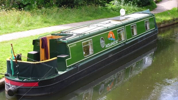 The name of the Miramichi, a narrowboat belonging to U.K. residents Bill and Jean Blanchard, was inspired by Bill's memories of his New Brunswick-born father.
