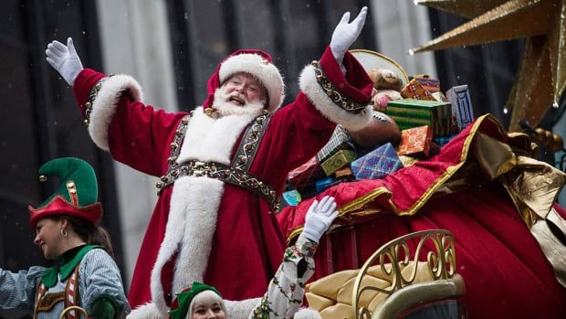 Santa, pictured here in Macy's Thanksgiving Day Parade in New York City, may not make it to Vancouver for the annual parade if the parade society is unable to attract new sponsors to fill a $150,000 gap in funding.