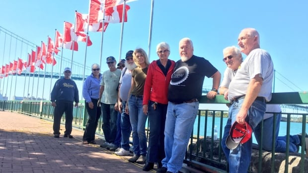 Veterans Voices of Canada erect 128 flags in Assumption Park, but within 24 hours plaques honouring specific soldiers had already gone missing.