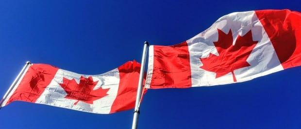 Flags Flying at Assumption Park