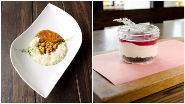The Japanese-style stroganoff at 5s17 and the PB&J cheesecake at National Westhills are two of the dishes being offered during Octoberfeast, running until Oct. 15. Twenty Calgary restaurants are participating in support of the Calgary Food Bank.