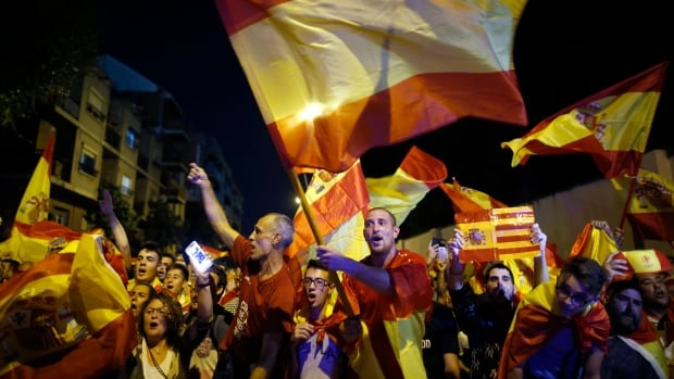 Protesters in Barcelona demand united Spain