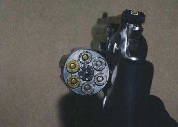 Loaded .357 revolver