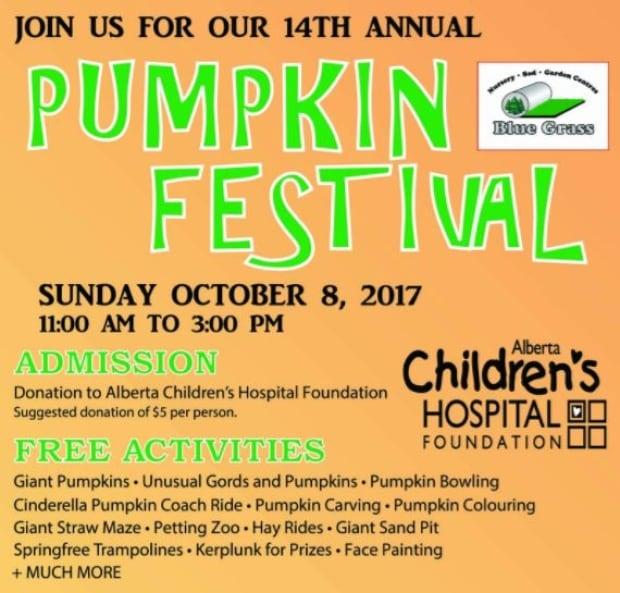 Bluegrass Nursery Pumpkin Festival Calgary