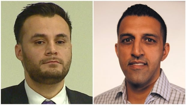 Ward 5 city council candidate Aryan Sadat, left, owes voters an explanation about his past legal issues, says competitor George Chahal, right.
