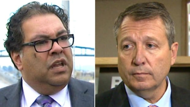Incumbent mayoral candidate Naheed Nenshi spoke to reporters Friday about challenger Bill Smith's call to revise the plan for the city's $4.6-billion Green Line LRT expansion. The province says that would take its $1.53 billion funding commitment off the table.
