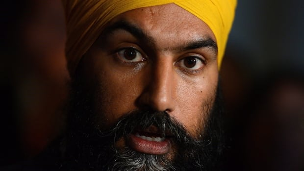 NDP Leader Jagmeet Singh speaks to reporters in the foyer of the House of Commons, in Ottawa last Wednesday. Some critics say the media is finding covering Singh a challenge.