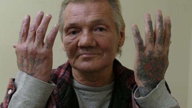 Gerald Pilon said the first tattoo he gave himself was his mother's initials on his arm. He has no idea how much body art he has accumulated over four decades, most of which he's spent in prison.