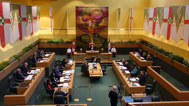 The Yukon legislative assembly, Oct. 2017.