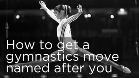 How to get a gymnastics move named after you