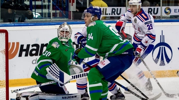 Canadian goalie Ben Scrivens, left, would be unable to play at the Olympics if the KHL bans its players from competing in Pyeongchang.