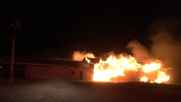 Leamington firefighters battled a $350,000 barn fire early on Oct. 8, 2017.
