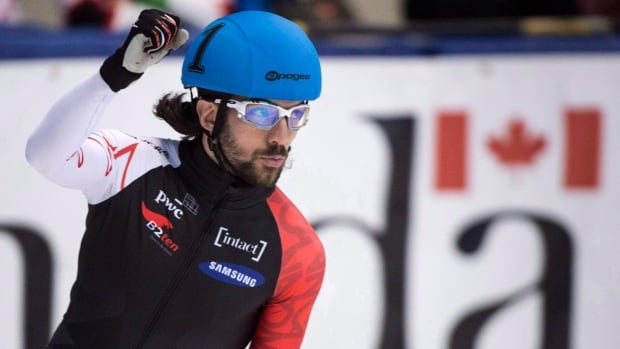 Canada's Charles Hamelin, shown in this 2016 file photo, was part of the Canadian team that's captured the first two gold medals of the World Cup season in the men's 5000m relay.