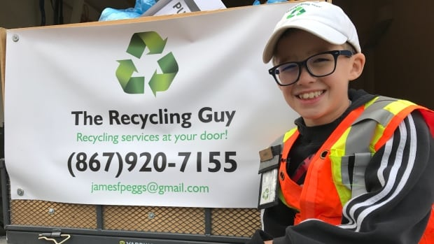 James Peggs, 10, started his recycling business two years ago. It grew from just five customers to 27.