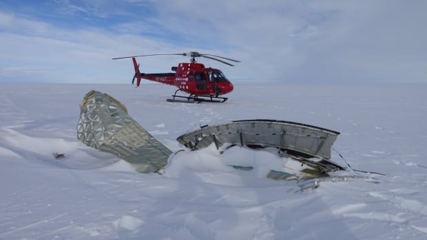 Investigators released this photo of debris from an Air France jet that was forced to land in Goose Bay on Sept. 30.
