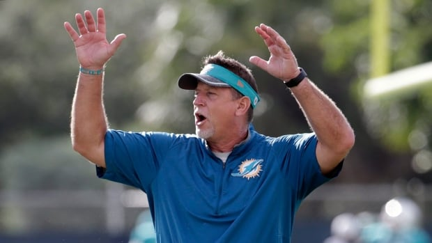 Miami Dolphins offensive line coach Chris Foerster resigned Monday after a social media video surfaced allegedly showing him snorting a white powdery substance.