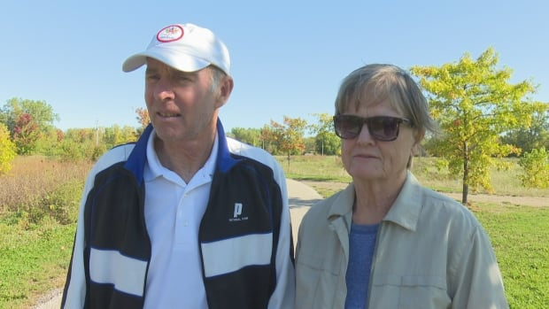 Dennis and Cheryl Smart say they won't stop walking along the Ganatchio Trail, following a violent assault on Sunday.