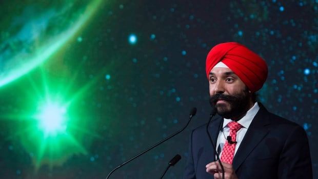 Economic Development Minister Navdeep Bains says the $950 million behind the 'Innovation Superclusters Initiative' will 'create more middle-class jobs and more opportunities for Canadian businesses to grow into globally successful brands.'