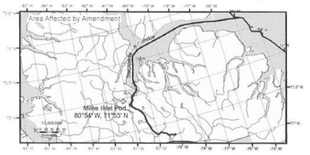 Baffinland amendment map