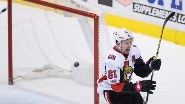 Ottawa Senators winger Mark Stone scored in the fifth round of the shootout to seal the team's first win of the season as they defeated the Vancouver Canucks 3-2 on Tuesday night.