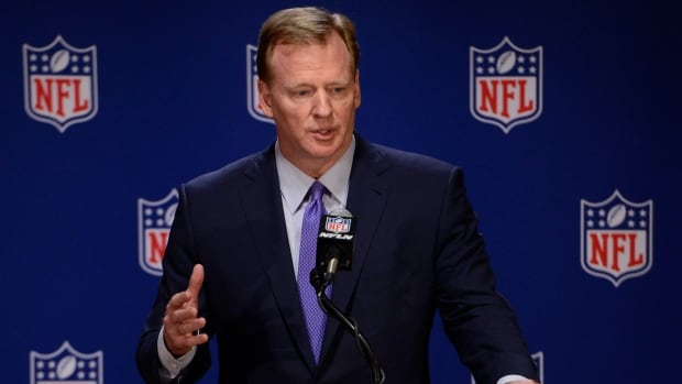 NFL commissioner Roger Goodell wants the league to 'move past' the controversy of whether players should stand during the playing of the national anthem.