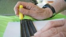 Slate and stylus blind literacy writing