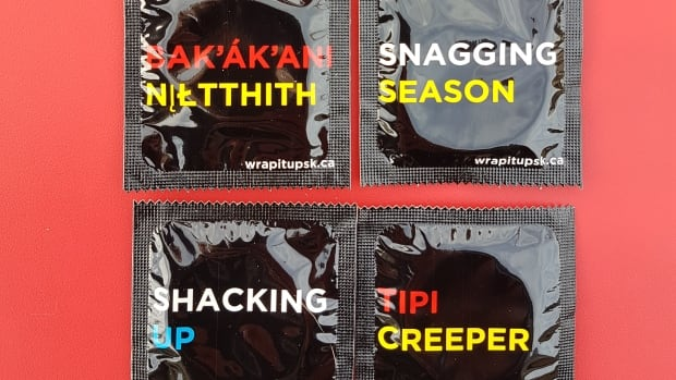 The six condom designs were selected by surveys given to Indigenous youth in four first Nation communities.