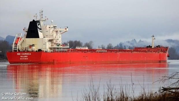 The SBI Carioca ran aground in Belledune on Wednesday morning.