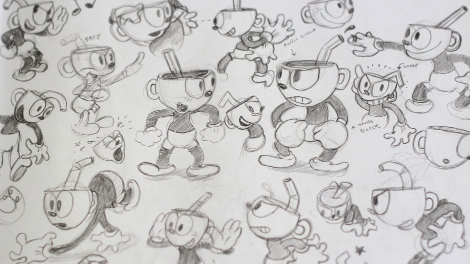 Cuphead character sketches