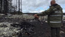Cabin burned Wilson Lake