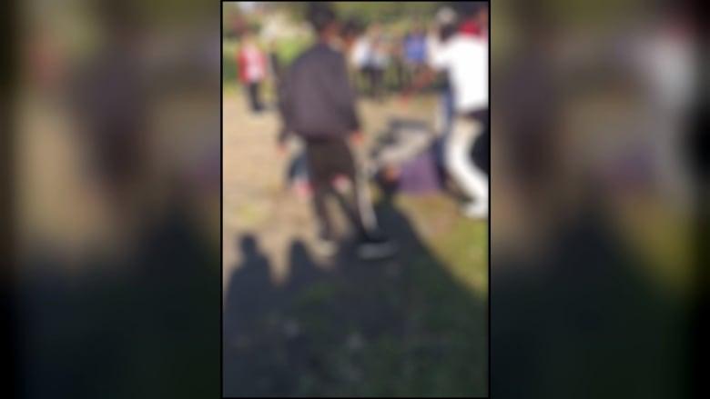3 beating teen video