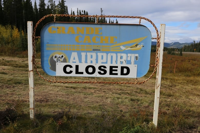 The Grande Cache Airport Was Closed Because The Town Could