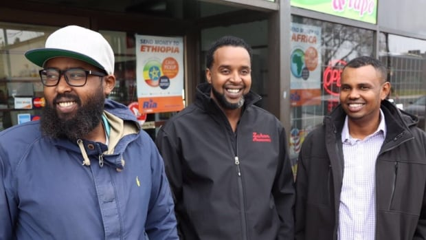 107th Ave. business owners Ahmed Hussein, Mustafa Ahmed and Liban Weid are funding skills training courses so unemployed community members can return to work.
