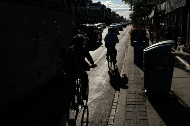 Toronto Bloor lane silhouette