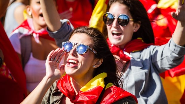 Thousands of people marched in Barcelona over the weekend in a show of support for Spanish unity.