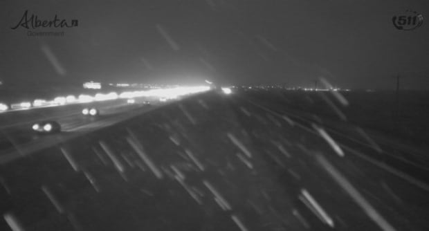 Snowy Highway 2 near Calgary