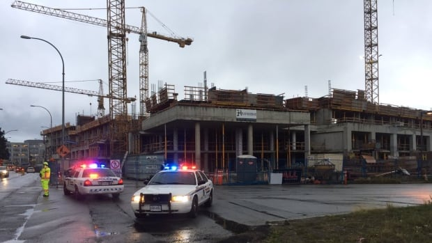 A man is dead after falling 20 storeys from a construction crane on the UBC campus.