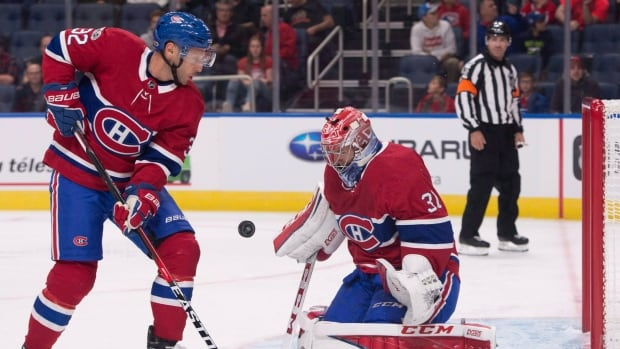 Mark Streit, left, was signed to a one-year, $700,000 US deal by the Montreal Canadiens this summer and was in his second go-around with the NHL club.