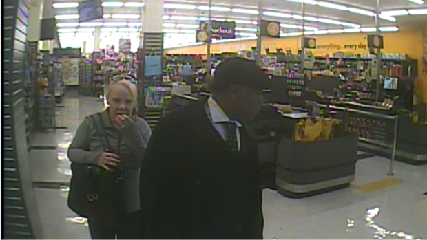 Halton police say these two people are suspects in repeated gum thefts in Burlington.