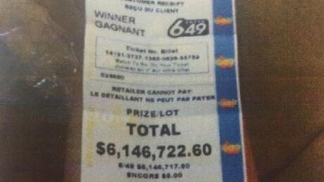 Lotto ticket, Maurice Thibeault