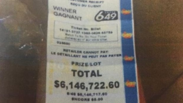 Maurice Thibeault allegedly sent this picture of a winning $6.1-million lottery ticket to his boss telling him he was quitting. Denise Robertson entered the picture as an exhibit in her court injunction asking for the payout to be halted.