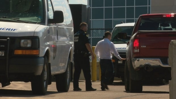 Patrick Cole, 27, leaves the Moncton courthouse on July 31 after being granted bail.  He was rearrested on Sunday.