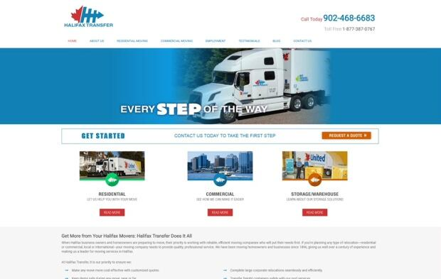 Halifax Transfer website
