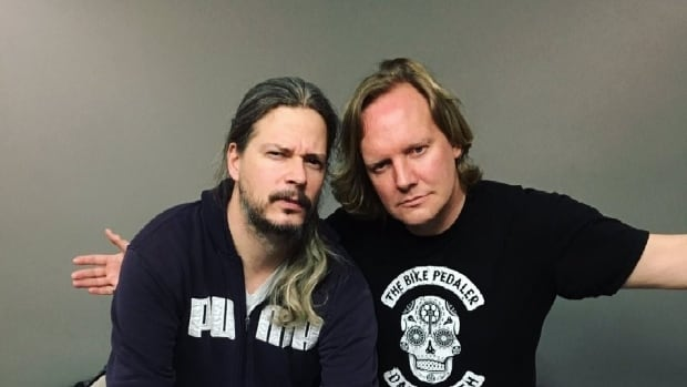 On Tuesday, Jonathan Torrens, right, and Jeremy Taggart release a book called Canadianity: Tales from the True North Strong and Freezing.