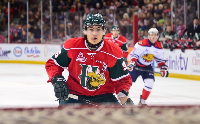 7e0b18b7135 Timo Meier is now playing with the San Jose Sharks. He was a member of the  Mooseheads from 2013-2016. (David Chan Halifax Mooseheads)